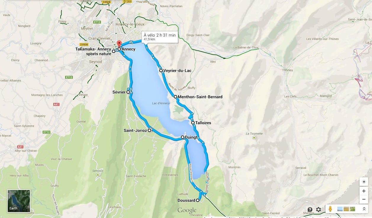 tour du lac d'annecy en vélo