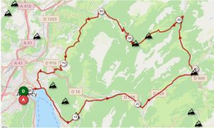 itineraire velo annecy